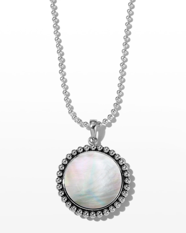 Maya 24mm Inlay Pendant Necklace