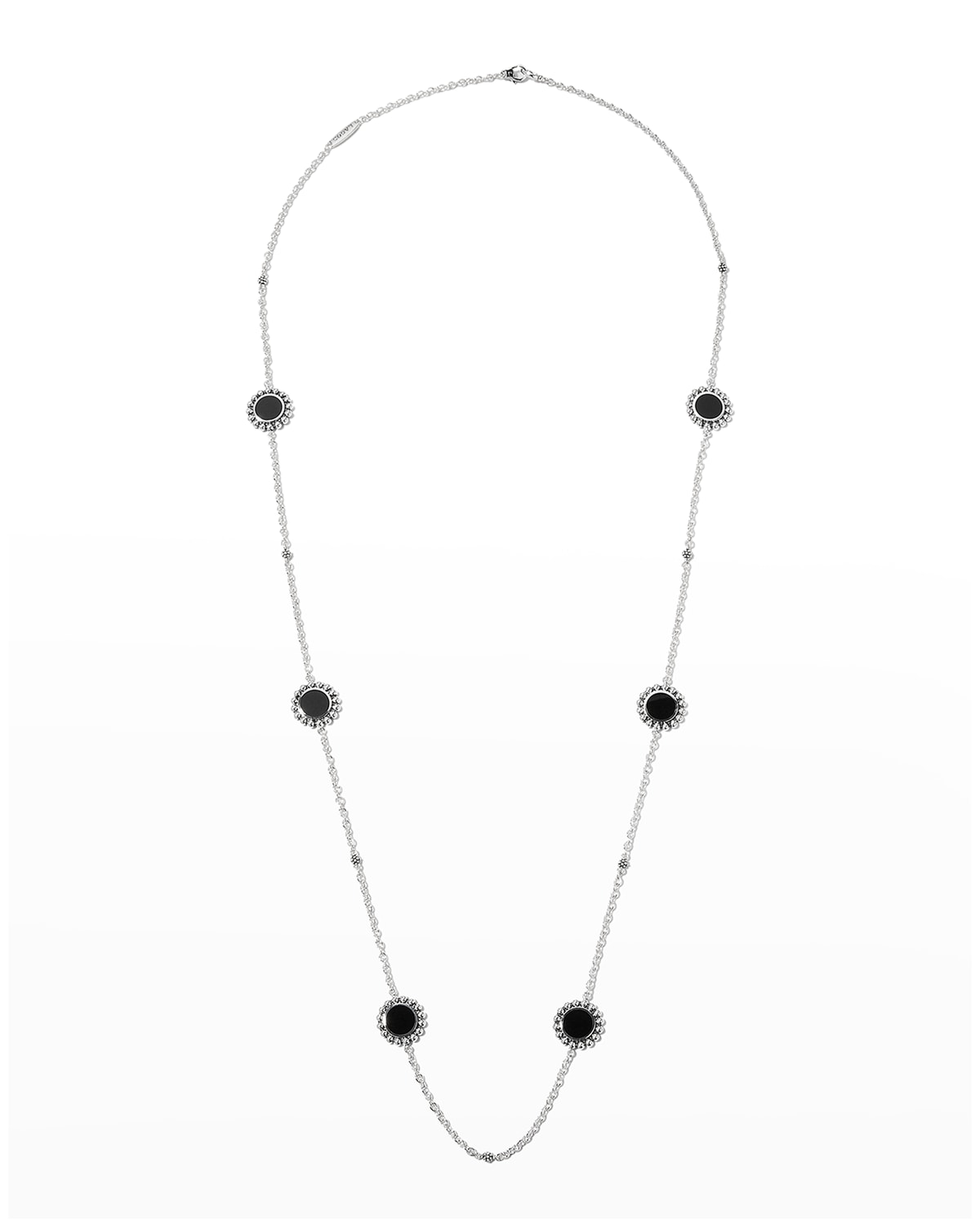 Maya 6-Station Inlay Necklace in Mother-of-Pearl
