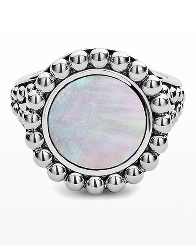 Maya 13mm Round Inlay Ring