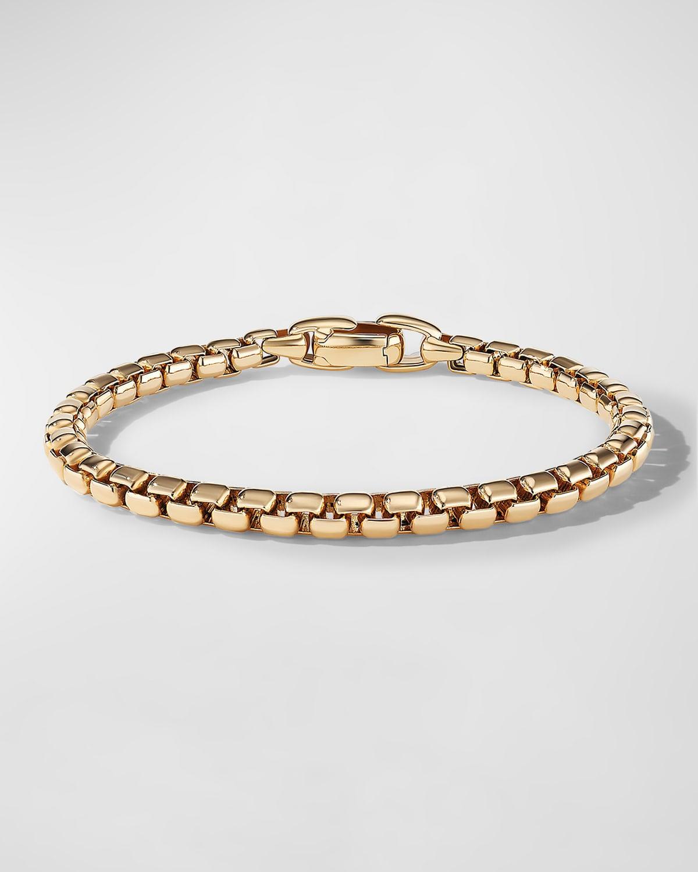 Men's 18k Gold Box Chain Bracelet