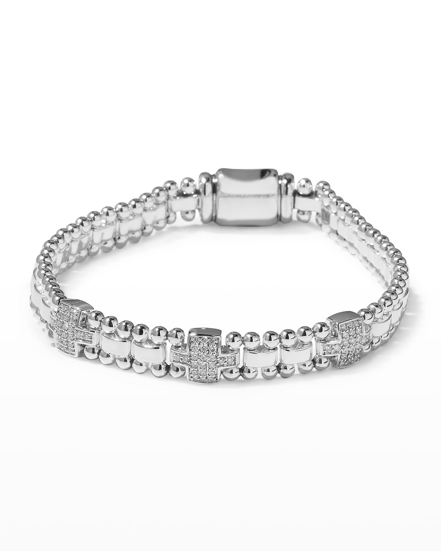 Caviar Spark Diamond 3-Link Bracelet