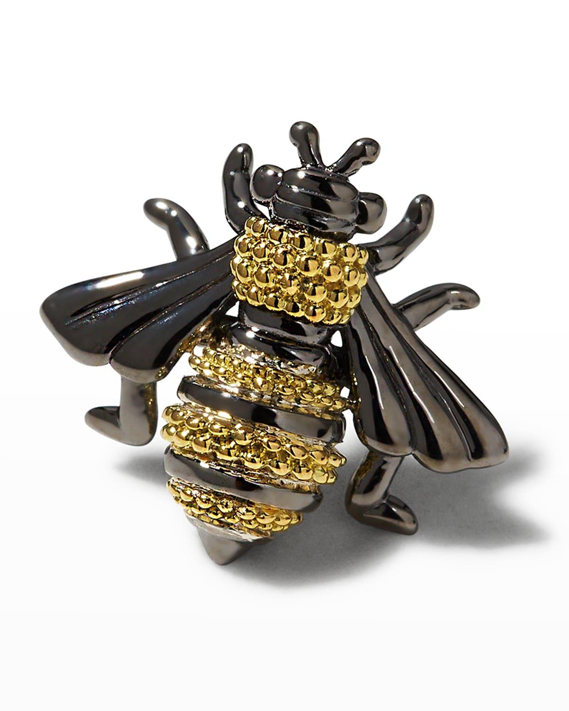Rare Wonders Honeybee Pin w/ 18k Gold