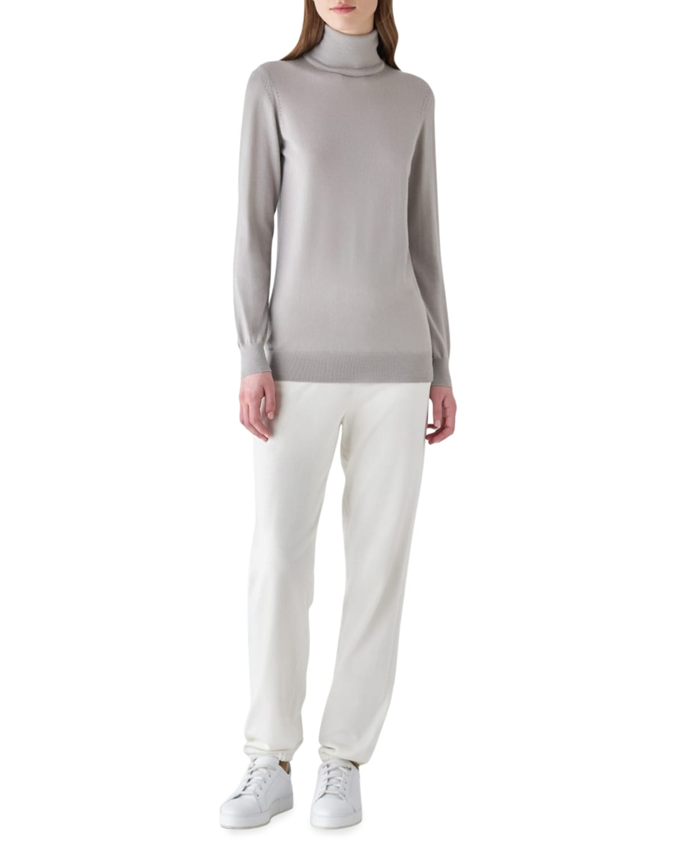 Featherweight Cashmere Turtleneck Sweater