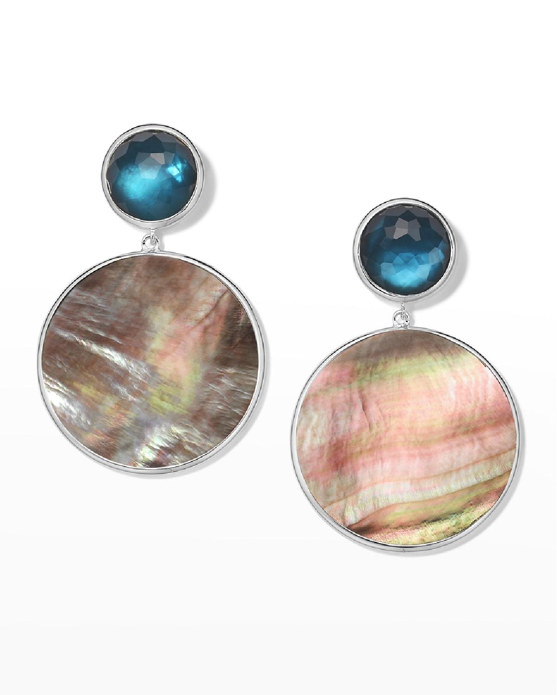 Wonderland Stone & Shell Snowman Earrings