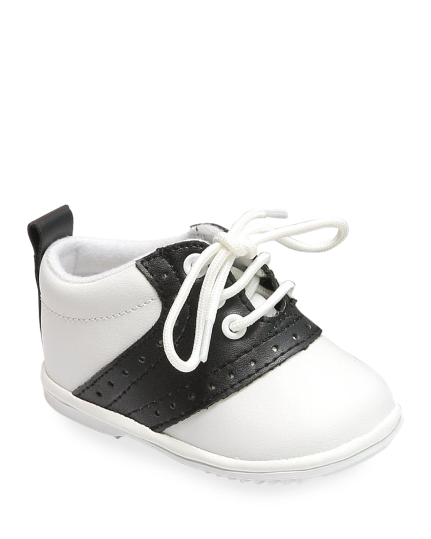 Austin Two-Tone Leather Saddle Oxford Shoes