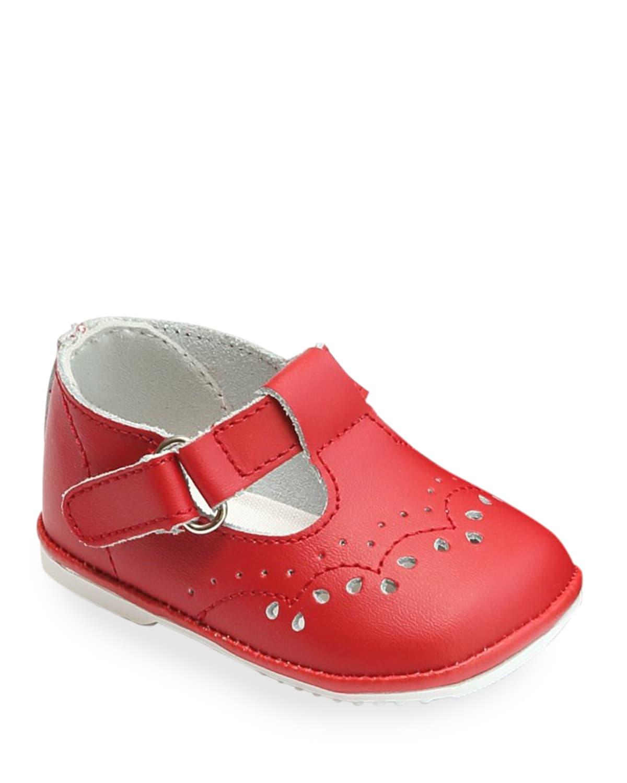 Birdie Leather T-Strap Brogue Mary Jane