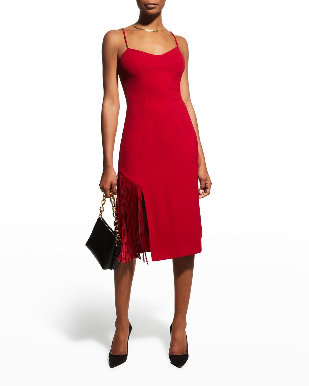 Rory Fringe Sheath Midi Dress