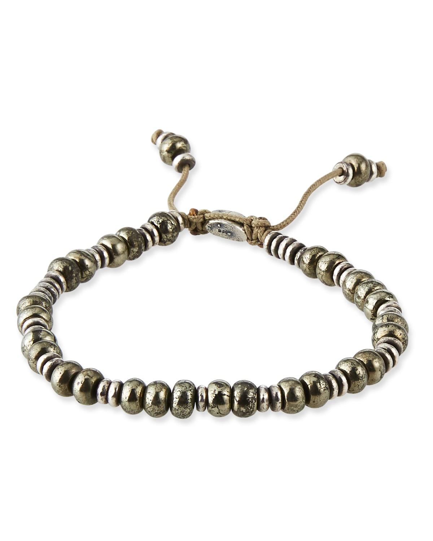 Men's Templar Sterling Disc %26 Stone Bracelet
