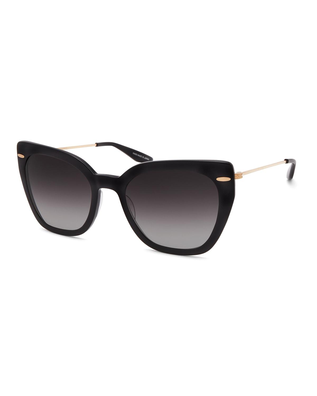 Catroux Acetate & Titanium Cat-Eye Sunglasses