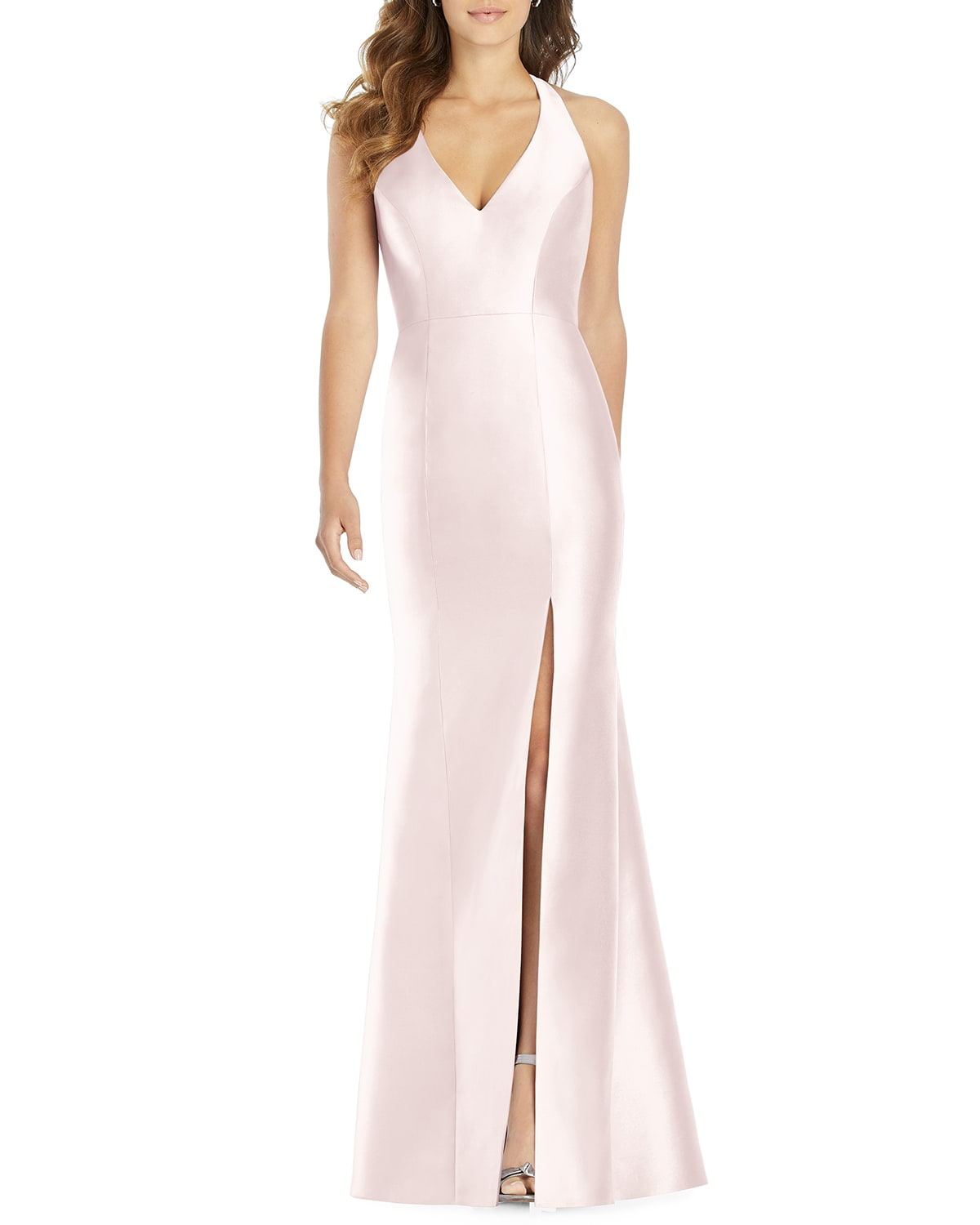 Halter Gown with Thigh-Slit