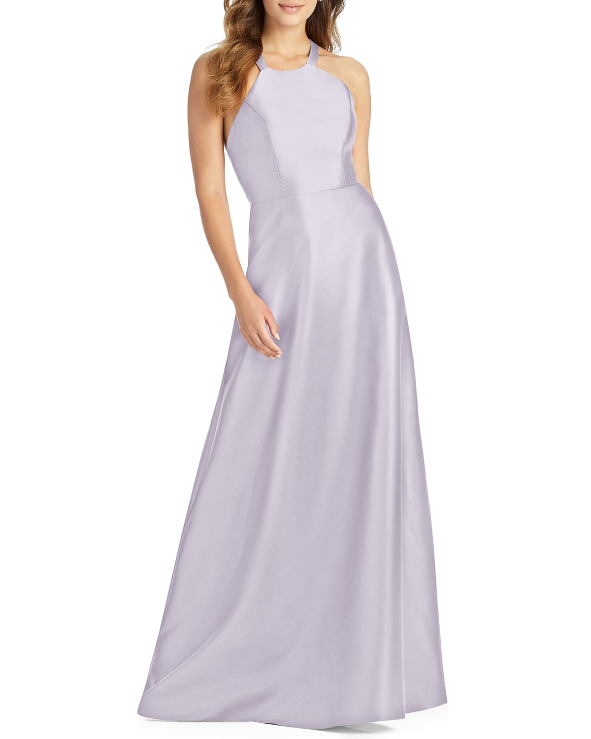 Halter Gown with Lace-Up Back