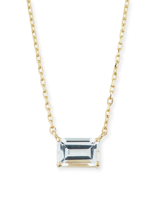 14K Yellow Gold Amalfi Emerald Cut Necklace