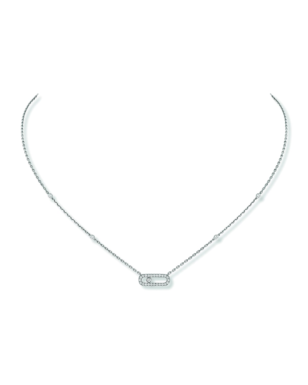 Move Uno Diamond Pave Necklace