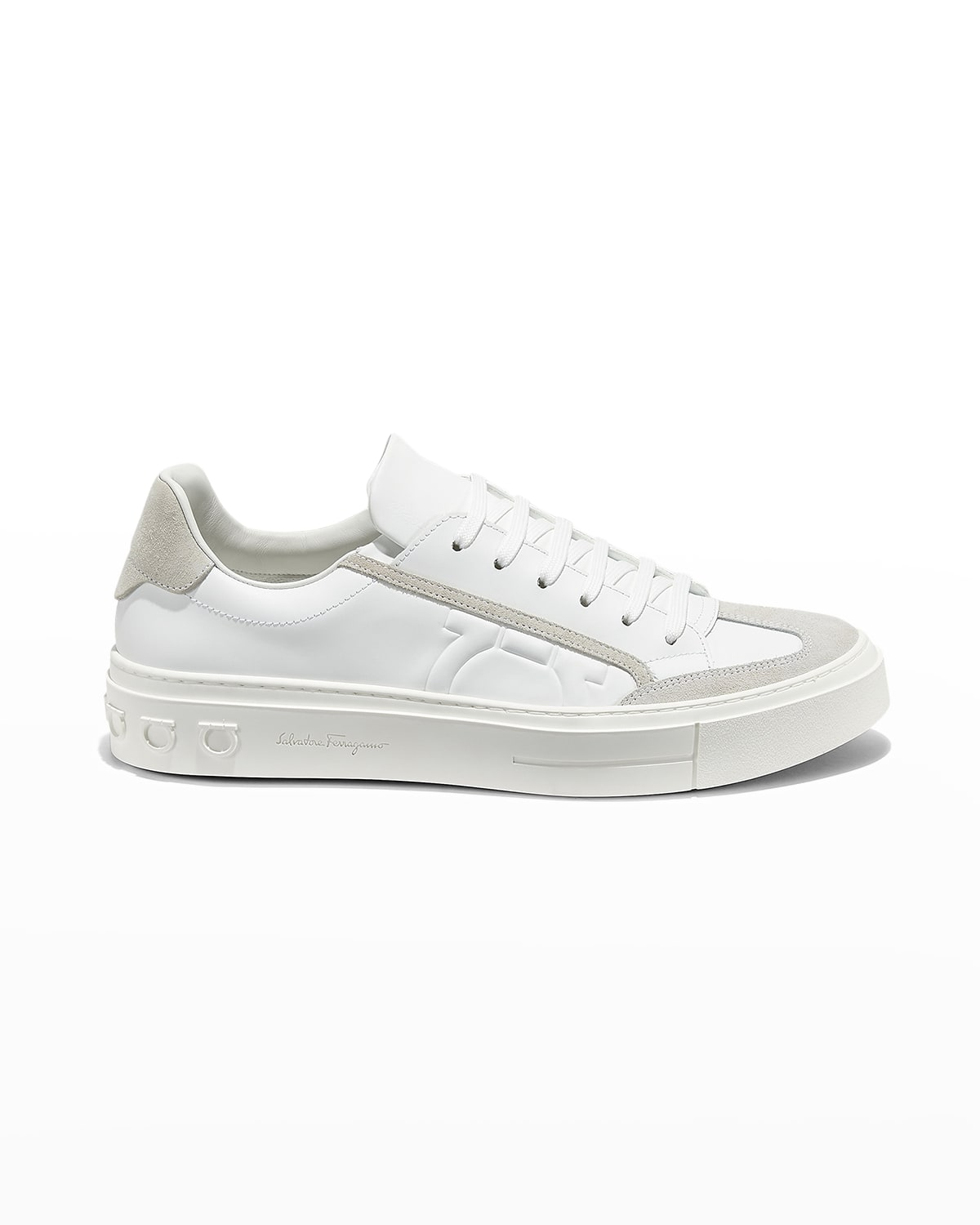 Men's Borg Low-Top Leather Sneakers