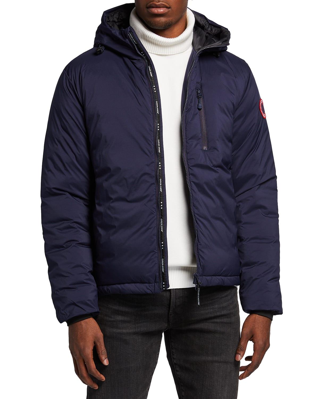 Men's Lodge Zip-Front Hoodie Puffer Coat