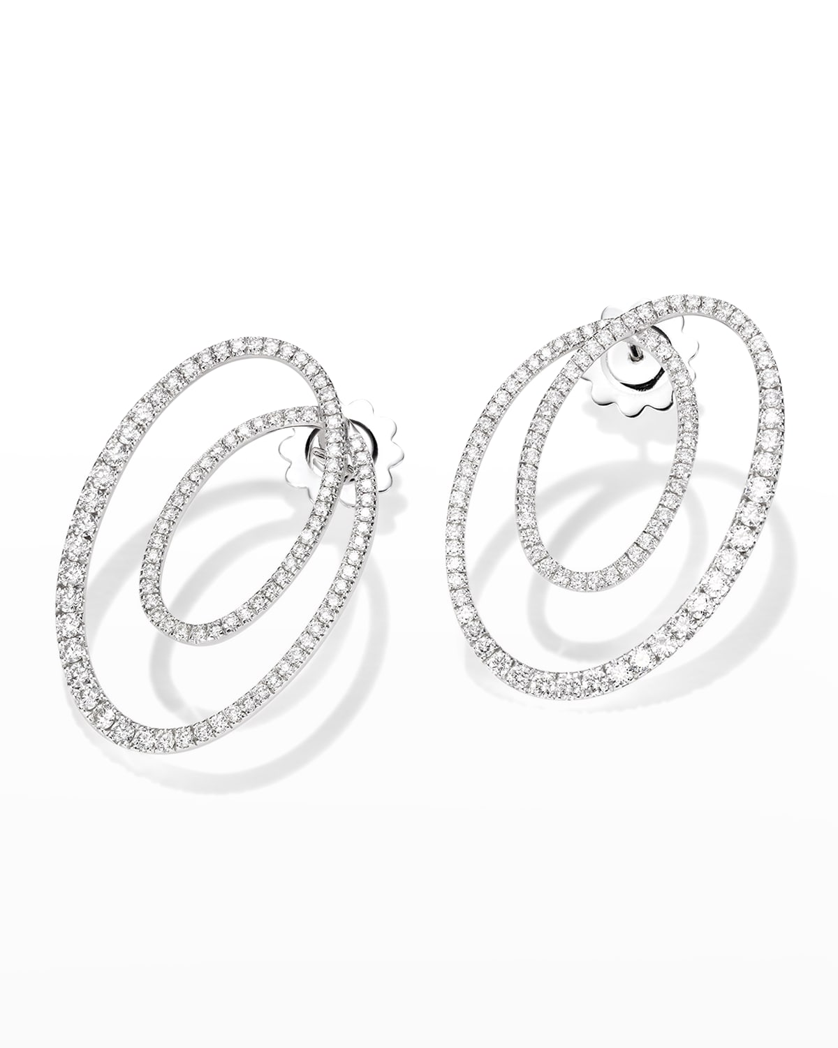 Chips Earrings in White Gold and Diamonds