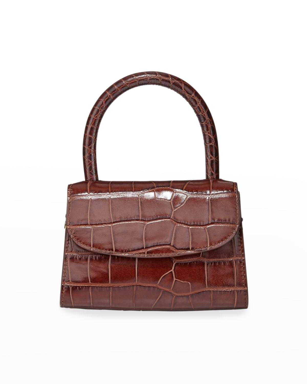 Mini Crocodile-Embossed Top-Handle Bag