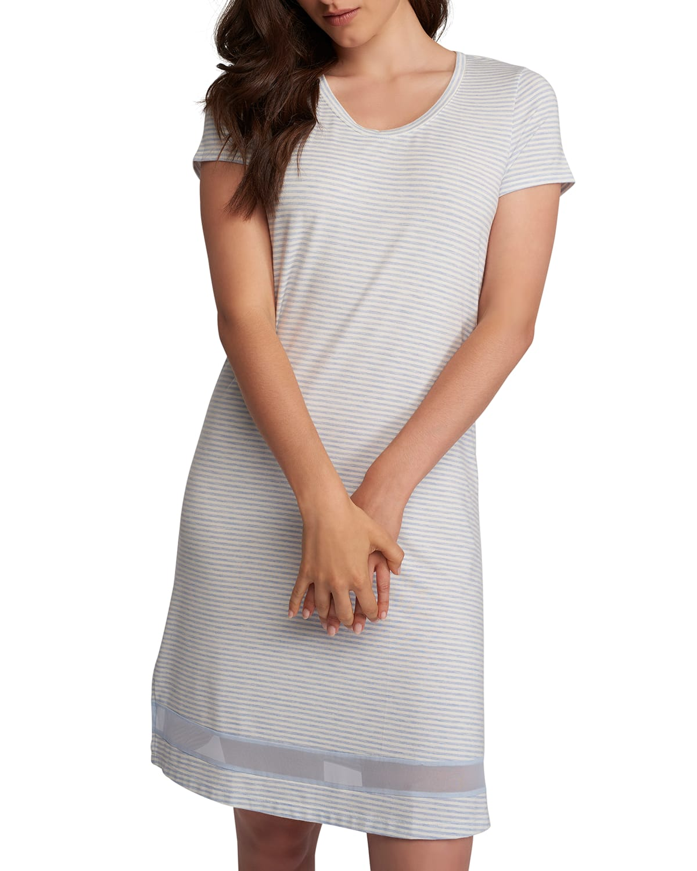 Gabriela Striped Sleepshirt