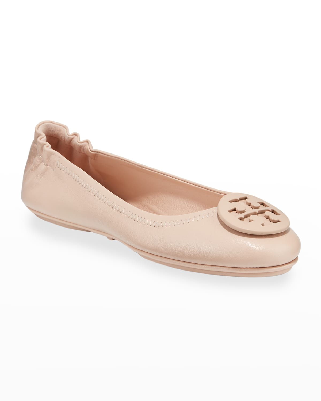 Minnie Travel Leather Ballet Flats