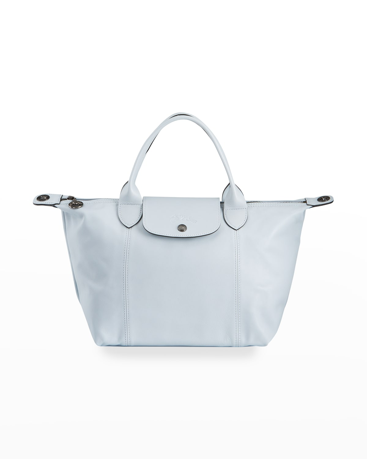 Le Pliage Cuir Small Leather Tote Bag