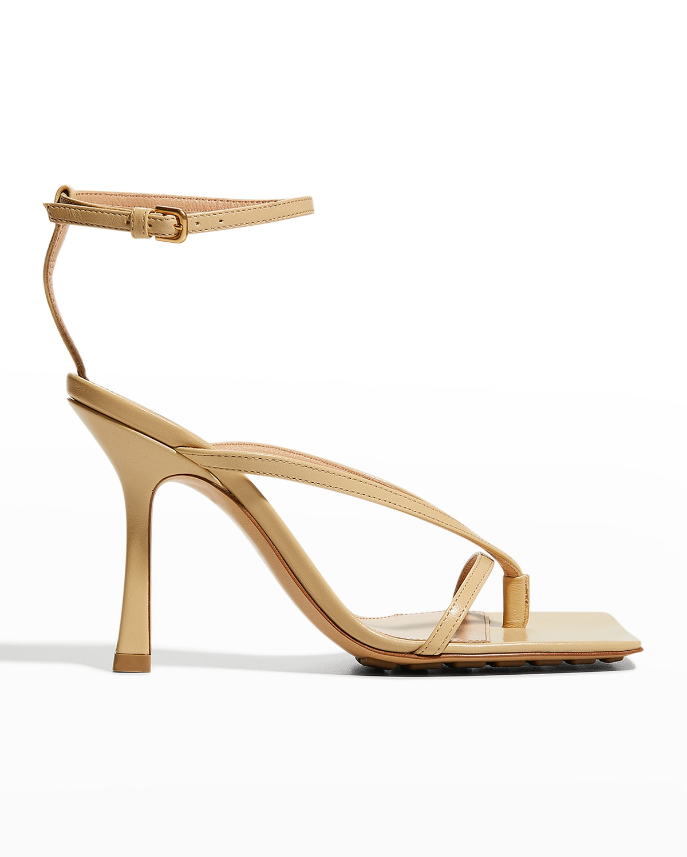 Multi Strap Stretch High-Heel Sandals