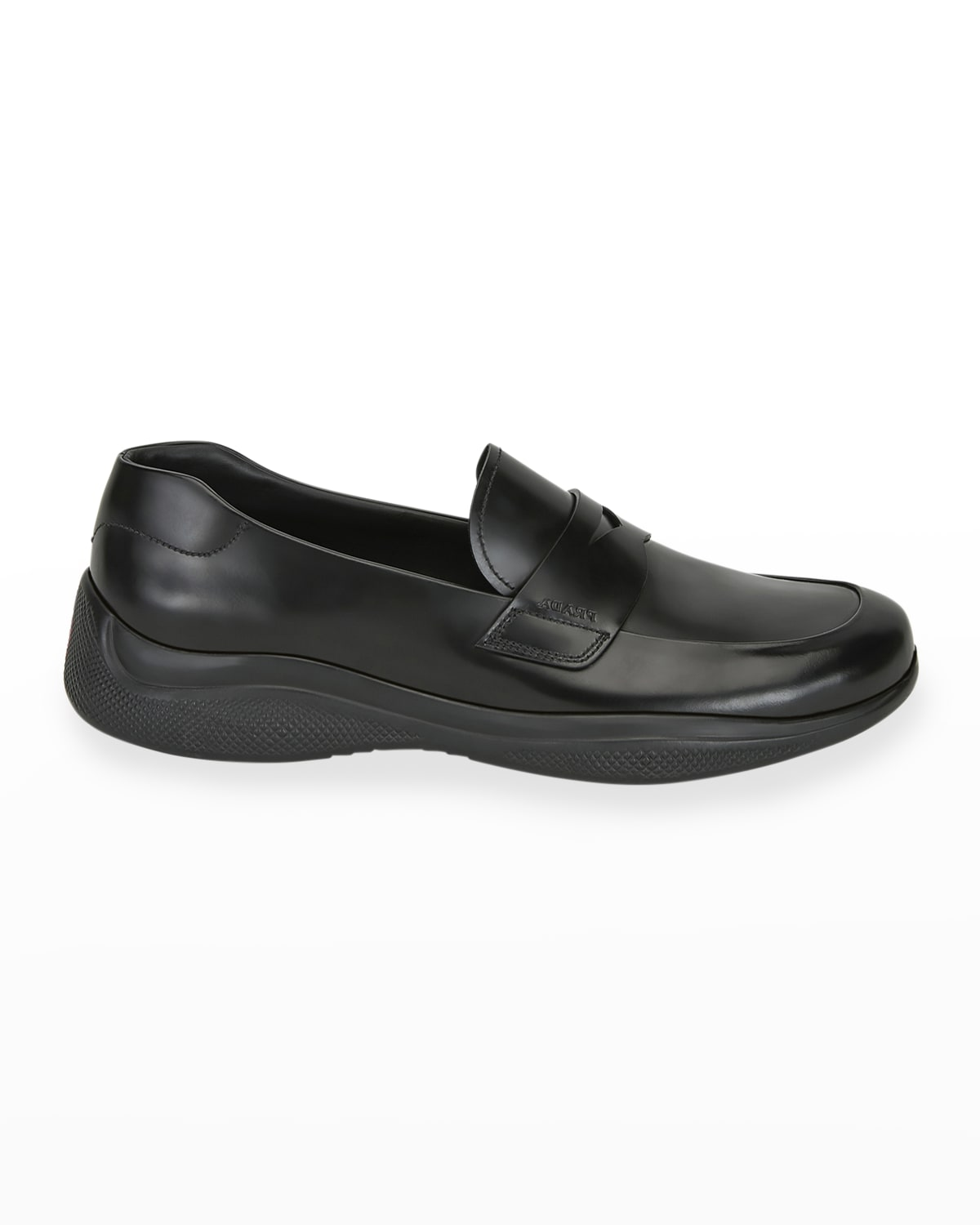 Men's Spazzolato Leather Penny Loafers