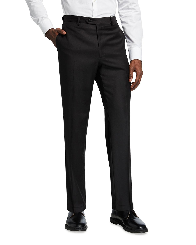 Men's Solid Wool Trousers
