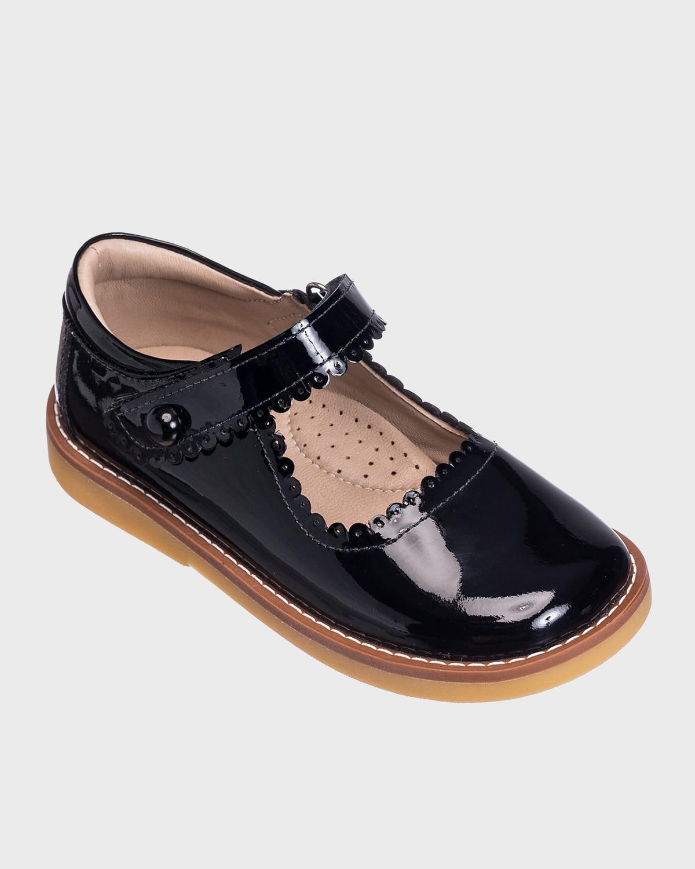 Scalloped Leather Mary Jane