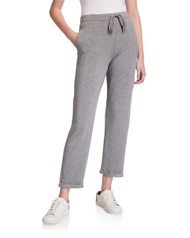 Cropped Drawstring Lounge Pants