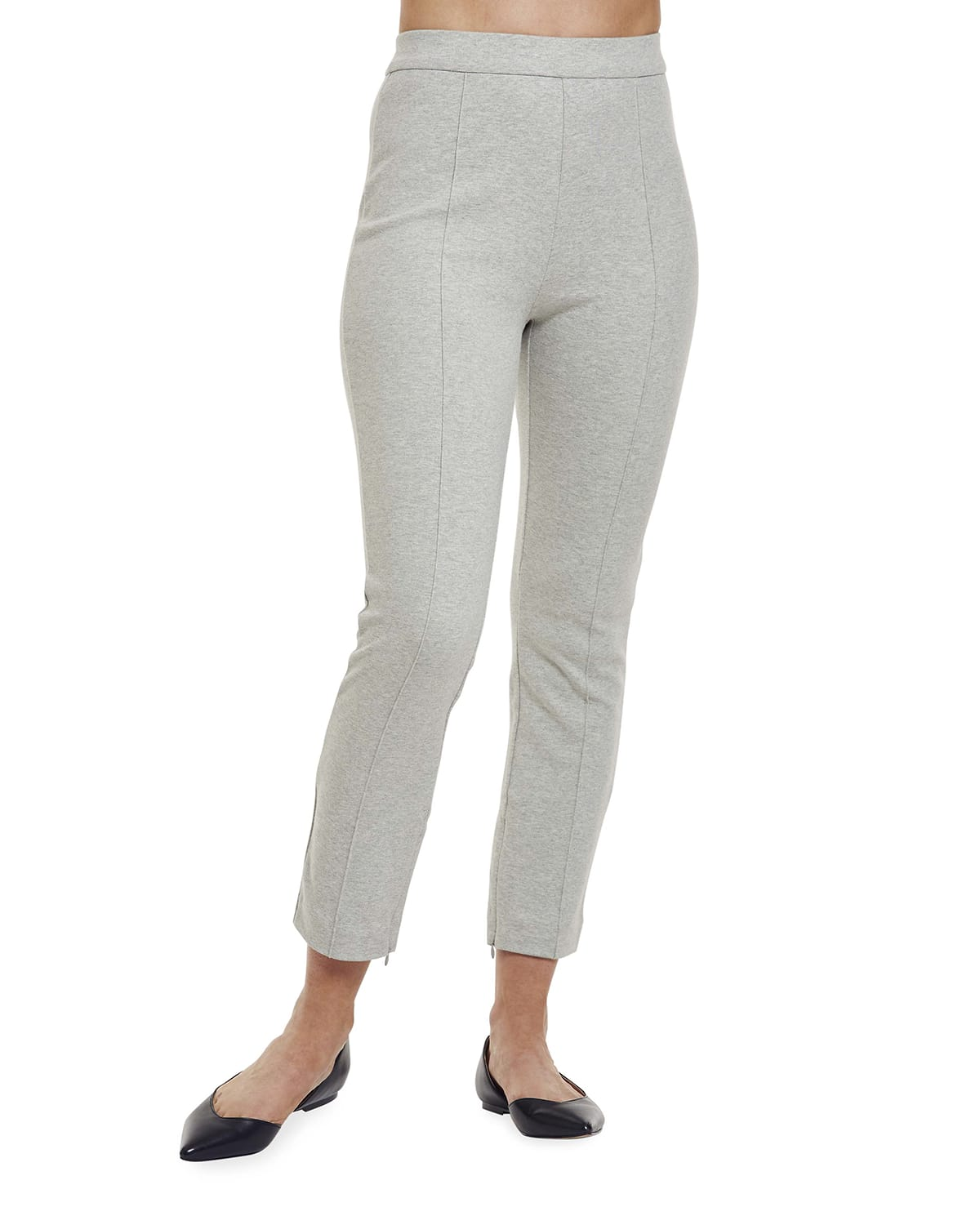 Ankle Pants with Front Seam Detail