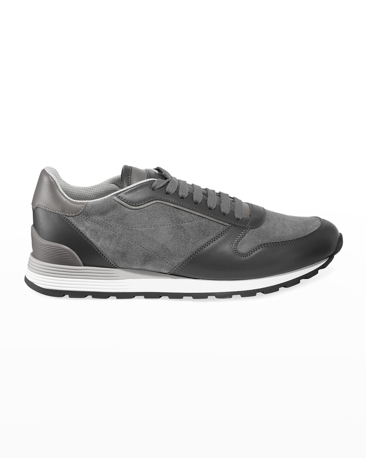 Men's Suede %26 Leather Athletic Sneakers