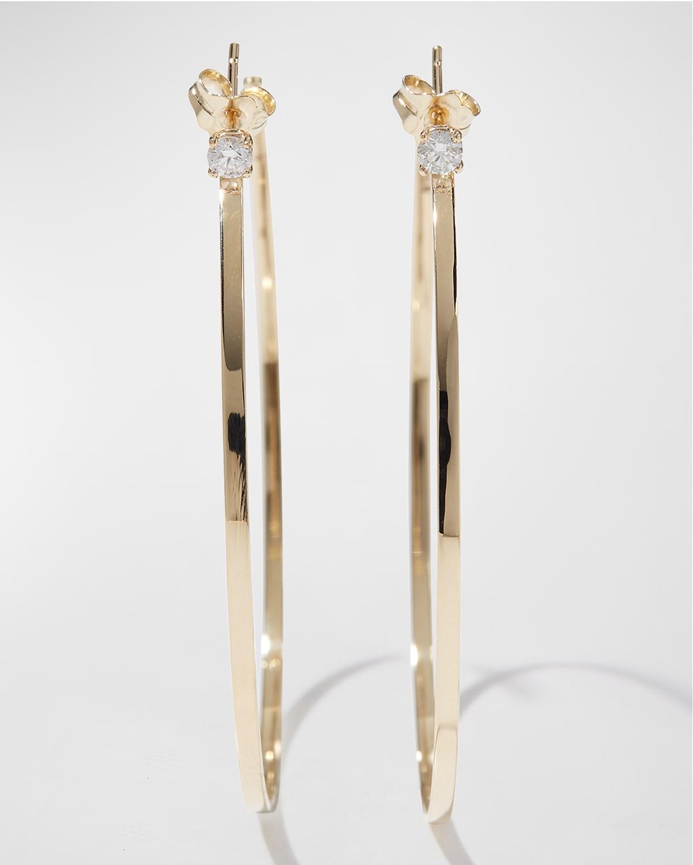 Sunrise 14k Gold & Diamond Hoop Earrings