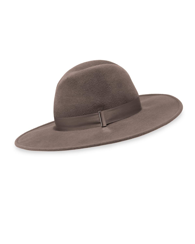 Jeanne Rabbit Felt Fedora Hat