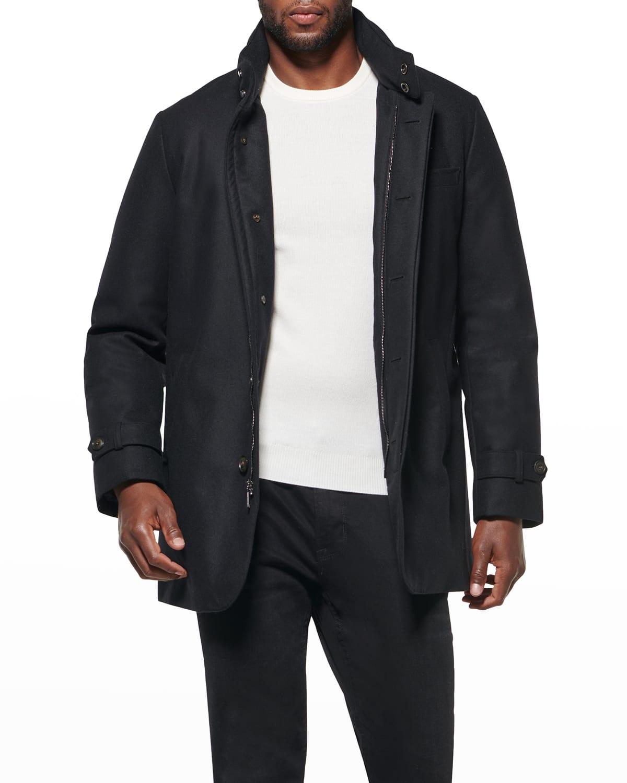 Men's Slim Hooded Car Coat