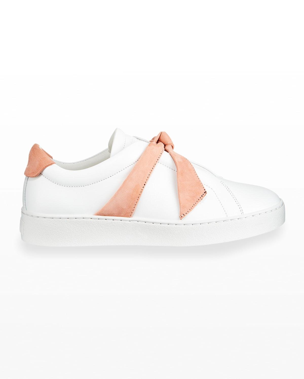 Clarita Two-Tone Sneakers, White/Pink