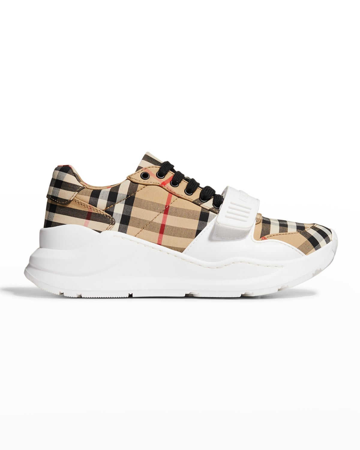 Regis Check Low-Top Sneakers with Exaggerated Sole