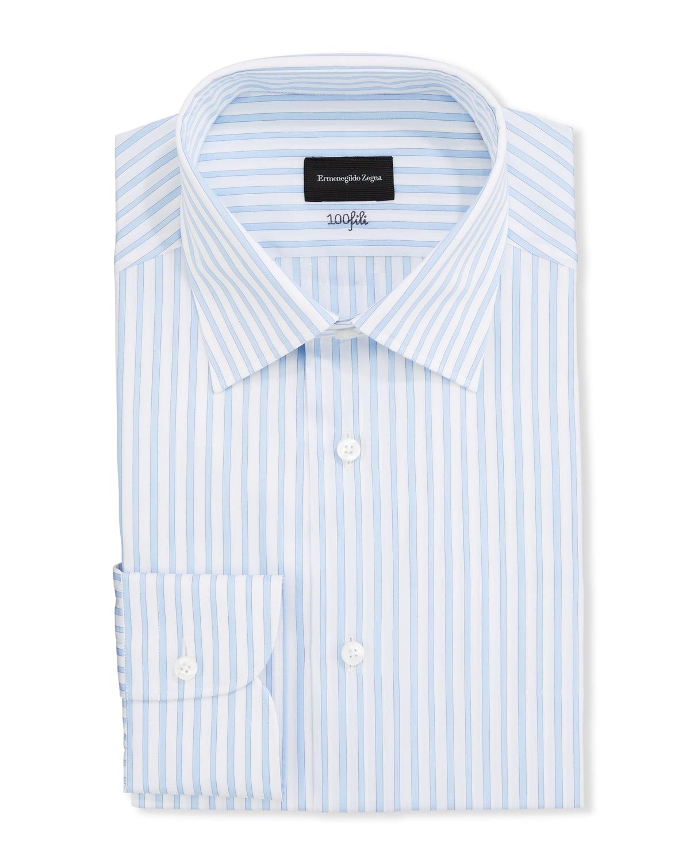 Men's Bengal-Stripe Regular-Fit Dress Shirt
