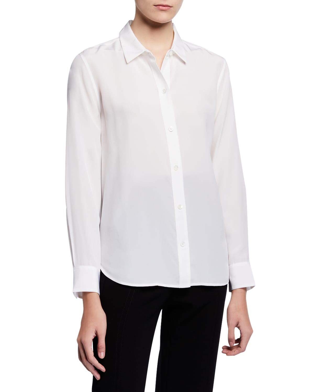 Leema Silk Button-Down Shirt