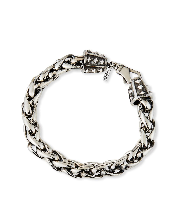 Men's Large-Link Wheat Chain Bracelet