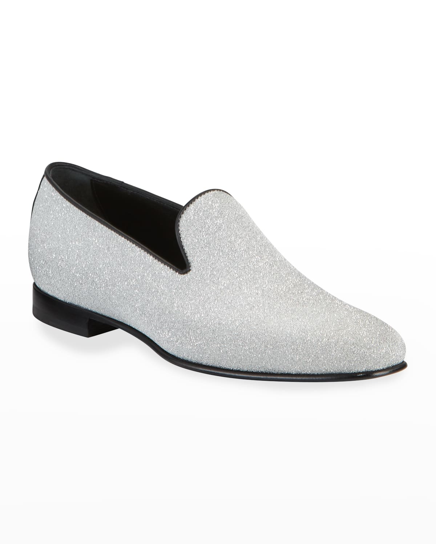 Men's Oscar Glittered Leather Venetian Loafers