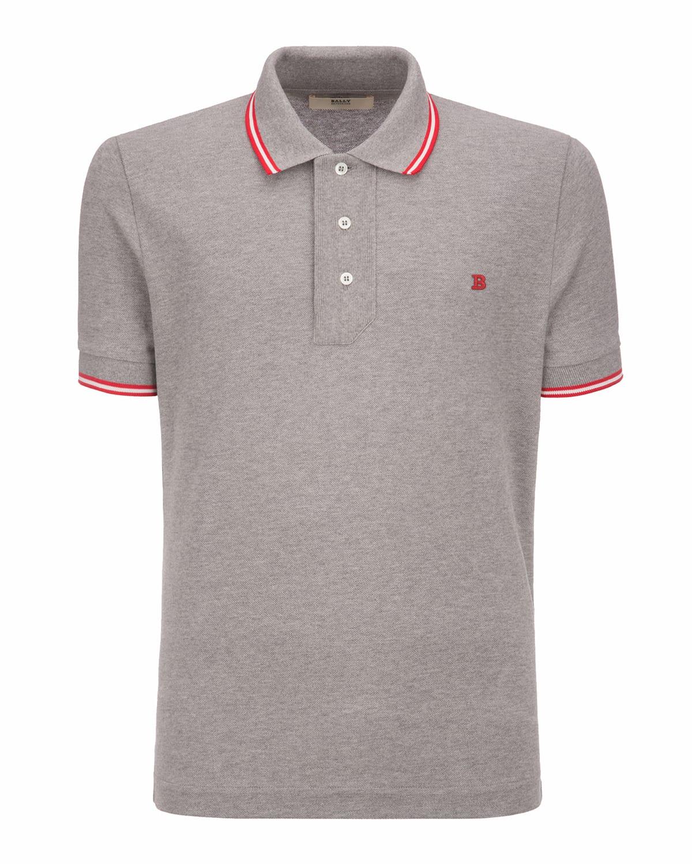 Men's Cotton Pique Polo Shirt with B Logo