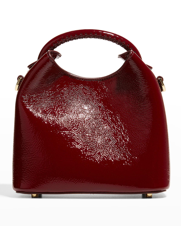Medeleine Houndstooth Bucket Bag