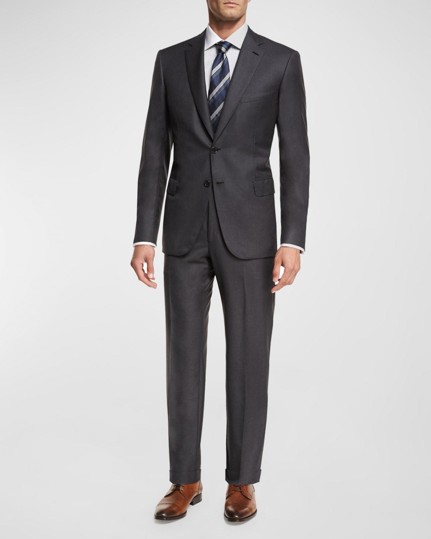 Men's Brunico Virgin Wool Two-Piece Suit