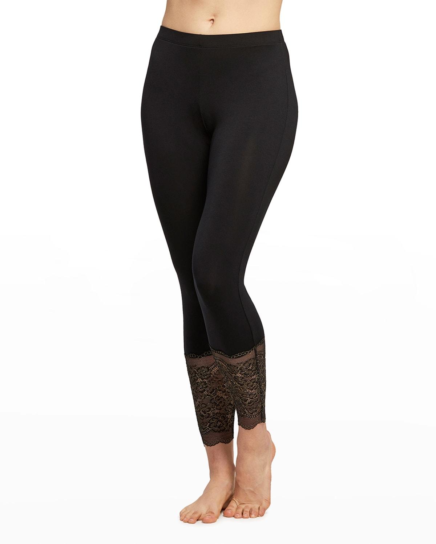 Lounge Leggings with Lace Hem