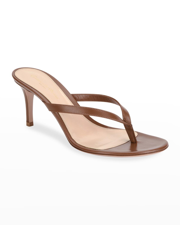 Thong Leather Slide Sandals