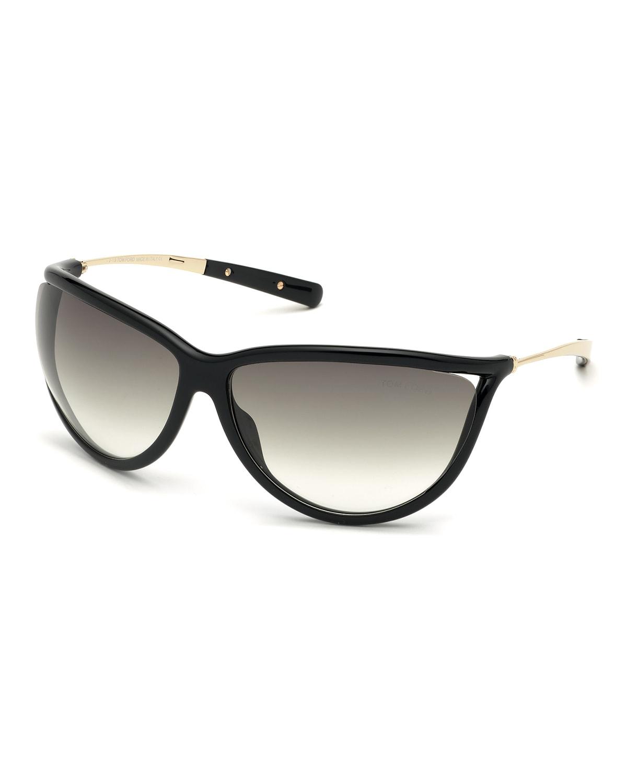 Gradient Shield Acetate Sunglasses