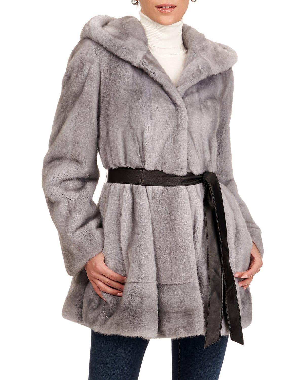 Mink Fur Jacket W/ Skirt Bottom