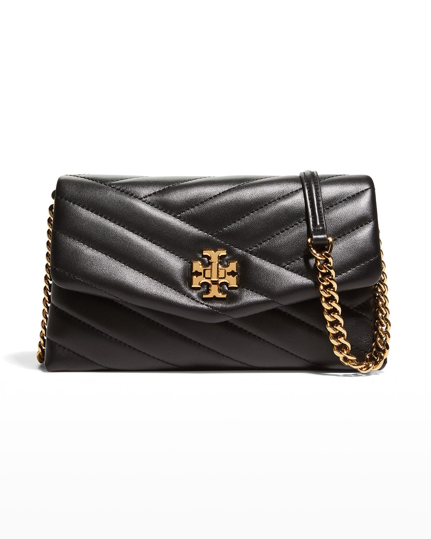 Kira Chevron Chain Wallet Crossbody Bag