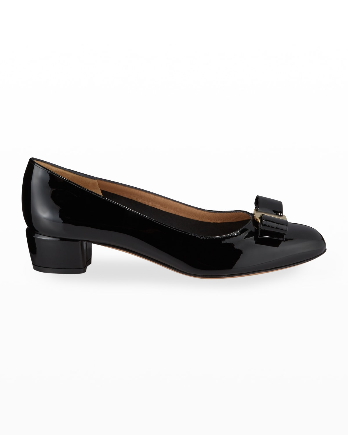 Vara Icon Leather Bow Pumps