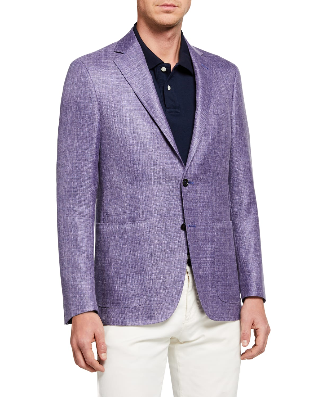 Men's Textured Wool-Blend Blazer
